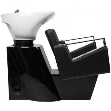 Kirpyklos plautuvė GABBIANO PROFESSIONAL HAIRWASHER BLACK BASE BLACK SEAT 2