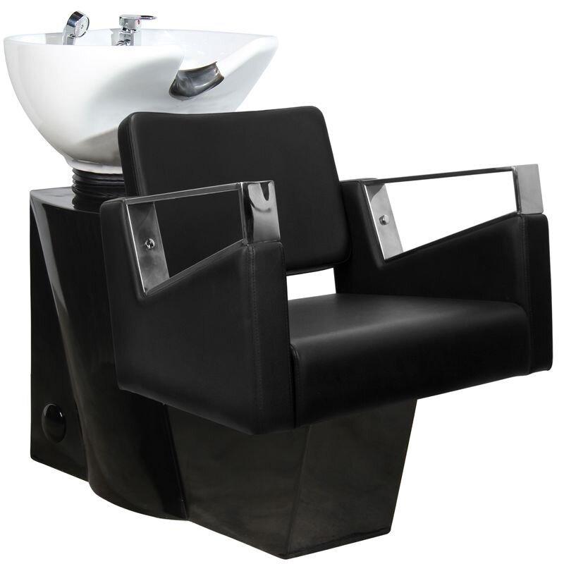 Kirpyklos plautuvė GABBIANO PROFESSIONAL HAIRWASHER BLACK BASE BLACK SEAT