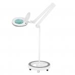 Kosmetologinė lempa LED su lupa 6W (pastatoma ant grindų su ratukais)