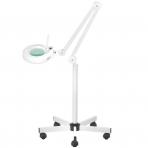 Kosmetologinė lempa LED su lupa ir stovu 12W (pastatoma ant grindų)
