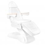 Kosmetologinis krėslas ELECTRIC LUX WHITE (2 elektriniai varikliai)