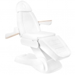 Kosmetologinis krėslas ELECTRIC LUX WHITE (3 elektriniai varikliai)