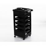 Kosmetologinis vežimėlis su sienelėmis (5 stalčių)