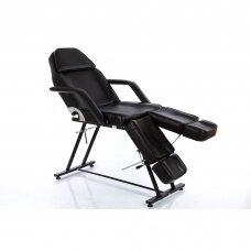 Kosmetologinis krėslas su atskiromis kojų dalimis (juodas)