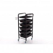 Friziera ratiņi (metāls, 5 atvilktnes)