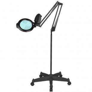 Kosmetologinė lempa LED su lupa 10W (pastatoma ant grindų, su ratukais)
