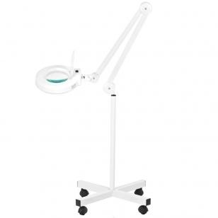 Kosmetologinė lempa LED su lupa 12W (pastatoma ant grindų)