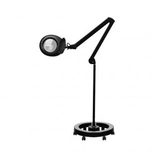 Kosmetologinė lempa LED su lupa 6W (pastatoma ant grindų, su ratukais)