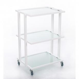 Kosmetologinis daugiaaukštis vežimėlis (3 talpios lentynos)
