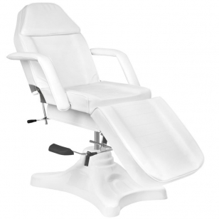 Kosmētikas krēsls HYDRAULIC SALON WHITE