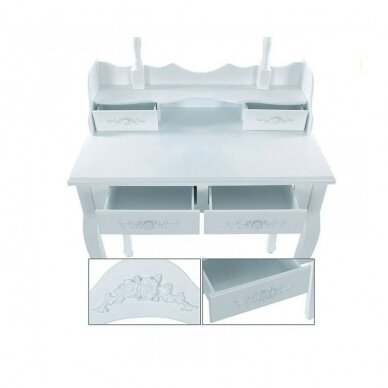 Tualetes galds ar spoguli + krēsls ELEGANTE 4