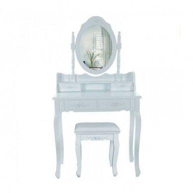 Kosmetinis staliukas su veidrodžiu + kėdutė ELEGANTE