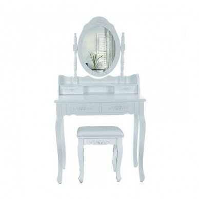 Tualetes galds ar spoguli + krēsls ELEGANTE