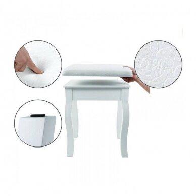 Kosmetinis staliukas su veidrodžiu + kėdutė ELEGANTE 3