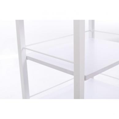 Kosmetologinis daugiaaukštis vežimėlis (2 lentynos + 1 stalčius) 5