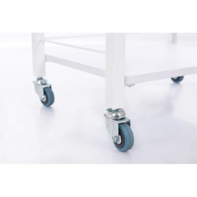 Kosmetologinis daugiaaukštis vežimėlis (2 lentynos + 1 stalčius) 10
