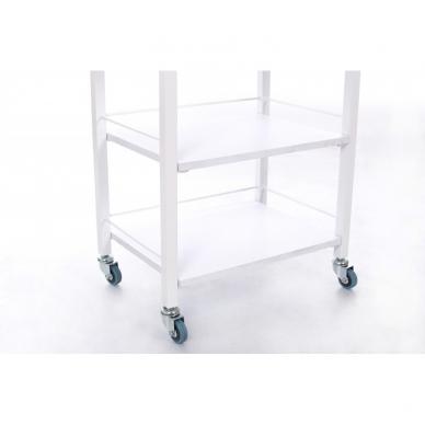 Kosmetologinis daugiaaukštis vežimėlis (2 lentynos + 1 stalčius) 4