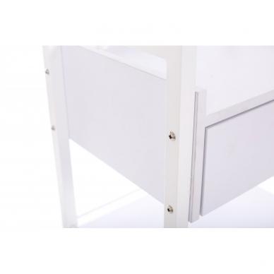 Kosmetologinis daugiaaukštis vežimėlis (2 lentynos + 1 stalčius) 6