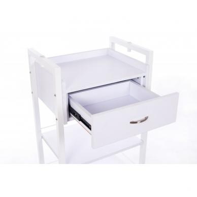 Kosmetologinis daugiaaukštis vežimėlis (2 lentynos + 1 stalčius) 8