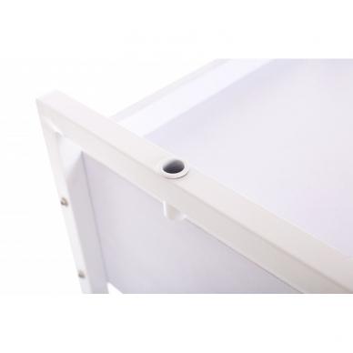 Kosmetologinis daugiaaukštis vežimėlis (2 lentynos + 1 stalčius) 9