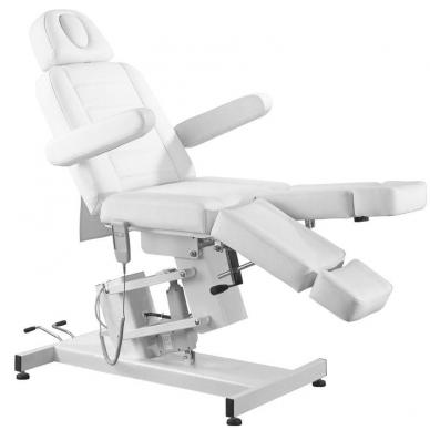 Kosmetologinis krėslas AZZURRO ELECTRIC PEDI WHITE