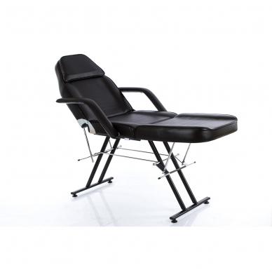 Kosmetologinis krėslas su vientisa kojų dalimi (juodas) 2