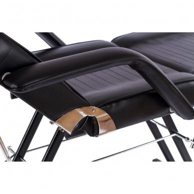 Kosmetologinis krėslas su vientisa kojų dalimi (juodas) 11