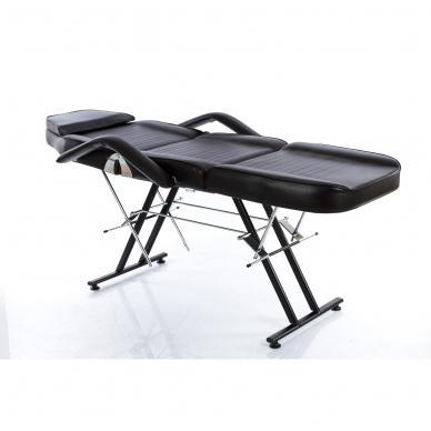 Kosmetologinis krėslas su vientisa kojų dalimi (juodas) 3