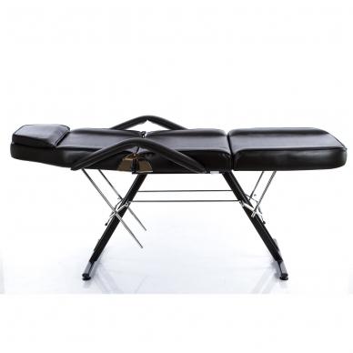 Kosmetologinis krėslas su vientisa kojų dalimi (juodas) 4