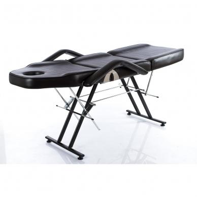 Kosmetologinis krėslas su vientisa kojų dalimi (juodas) 5