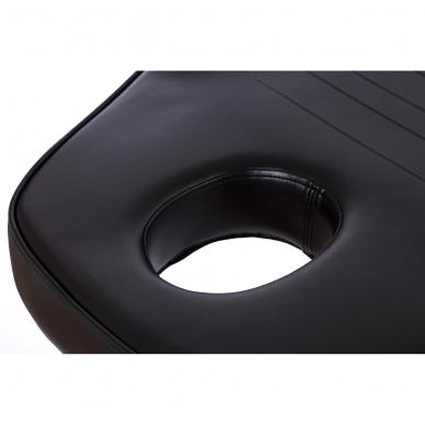 Kosmetologinis krėslas su vientisa kojų dalimi (juodas) 6