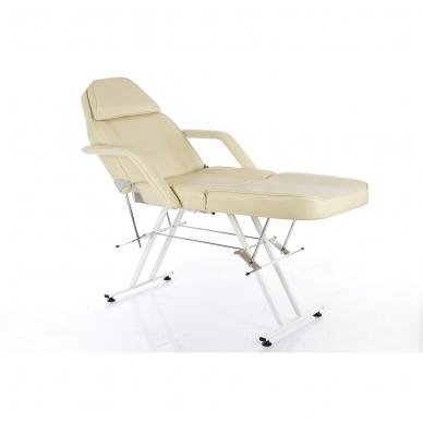 Kosmetologinis krėslas su vientisa kojų dalimi (kreminis) 2