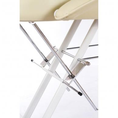 Kosmetologinis krėslas su vientisa kojų dalimi (kreminis) 8