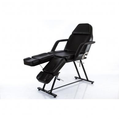 Kosmetologinis krėslas su atskirai reguliuojamomis kojų dalimis (juodas) 11