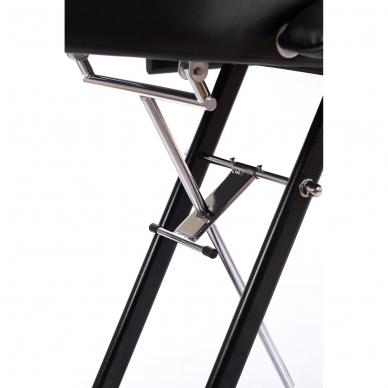 Kosmetologinis krėslas su atskirai reguliuojamomis kojų dalimis (juodas) 8