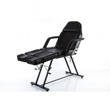 Kosmetologinis krėslas su atskirai reguliuojamomis kojų dalimis (juodas) 9