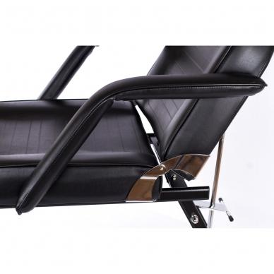 Kosmetologinis krėslas su atskirai reguliuojamomis kojų dalimis (juodas) 13