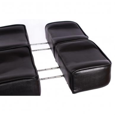 Kosmetologinis krėslas su atskirai reguliuojamomis kojų dalimis (juodas) 16