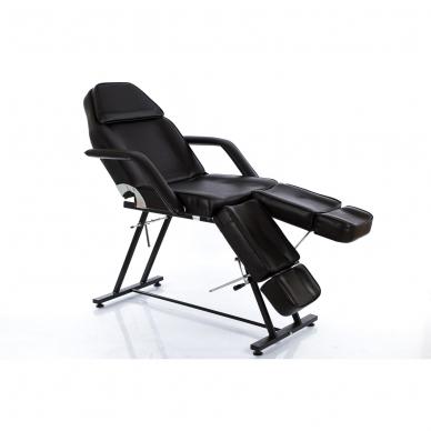 Kosmetologinis krėslas su atskirai reguliuojamomis kojų dalimis (juodas)