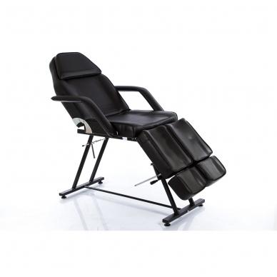 Kosmetologinis krėslas su atskirai reguliuojamomis kojų dalimis (juodas) 2