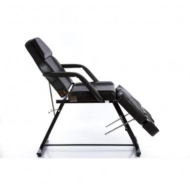 Kosmetologinis krėslas su atskirai reguliuojamomis kojų dalimis (juodas) 3