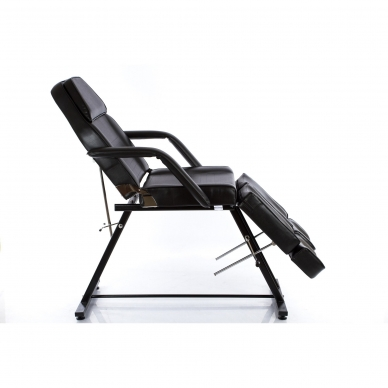 Kosmetologinis krėslas su atskirai reguliuojamomis kojų dalimis Beauty 2 (Black) 3