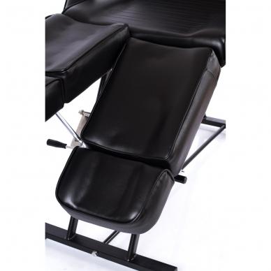 Kosmetologinis krėslas su atskirai reguliuojamomis kojų dalimis (juodas) 12