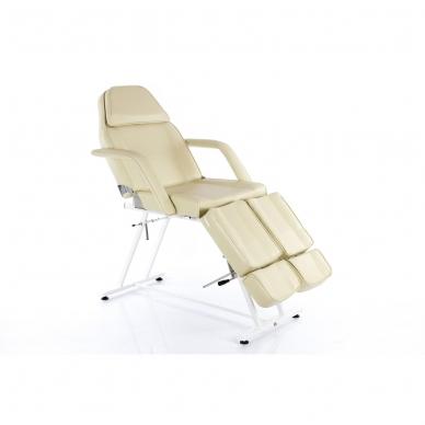 Kosmetologinis krėslas su atskirai reguliuojamomis kojų dalimis  (kreminis) 2