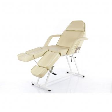 Kosmetologinis krėslas su atskirai reguliuojamomis kojų dalimis  (kreminis) 11