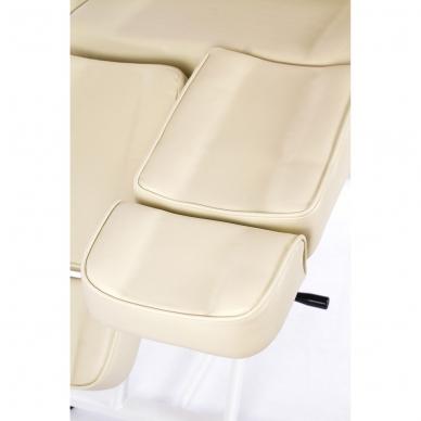 Kosmetologinis krėslas su atskiromis kojų dalimis (kreminis) 12