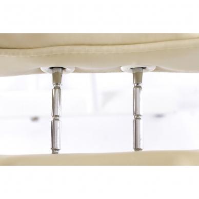 Kosmetologinis krėslas su atskiromis kojų dalimis (kreminis) 17