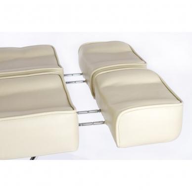 Kosmetologinis krėslas su atskirai reguliuojamomis kojų dalimis Beauty 2 (Cream) 16