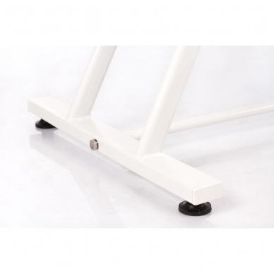 Kosmetologinis krėslas su atskirai reguliuojamomis kojų dalimis  (kreminis) 15