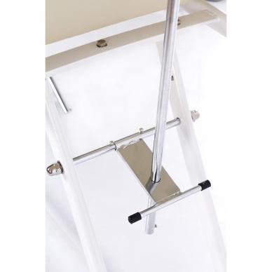 Kosmetologinis krėslas su atskiromis kojų dalimis (kreminis) 14